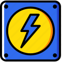 building, construction, electricity, tool, work icon