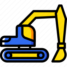 building, construction, loader, tool, work icon