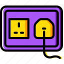 building, construction, plug, socket, tool, uk, work icon