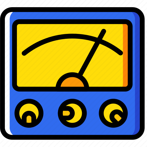 building, construction, tool, voltmeter, work icon