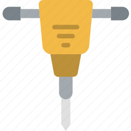 building, construction, hammer, jack, tool, work icon