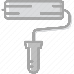 building, construction, paint, roller, tool, work icon
