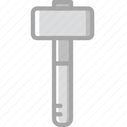 blow, building, construction, dead, hammer, tool, work icon