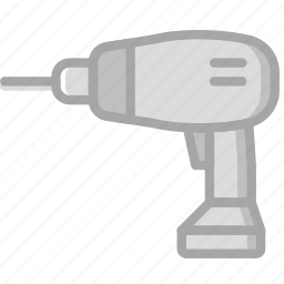 building, construction, drill, electric, tool, work icon