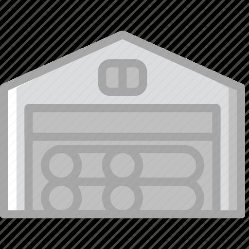 building, construction, deposit, tool, wood, work icon