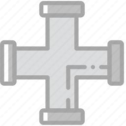 building, construction, pipe, tool, work, x icon