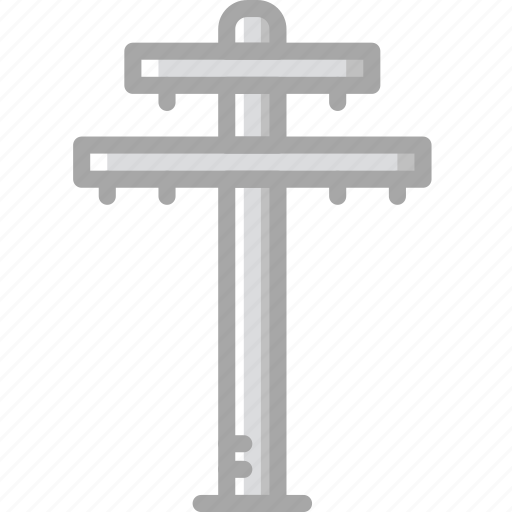 building, construction, electricity, pole, tool, work icon