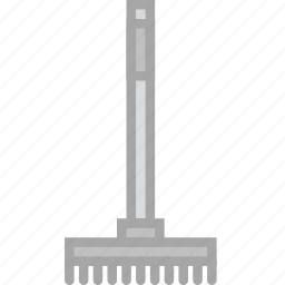 building, construction, rake, tool, work icon