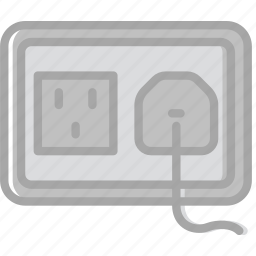 building, construction, plug, socket, tool, us, work icon