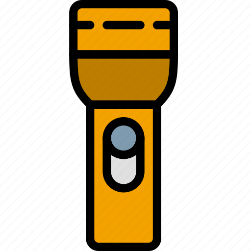 building, construction, flashlight, tool, work icon