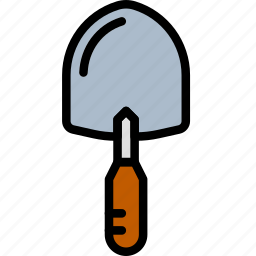 building, buttering, construction, tool, trowel, work icon