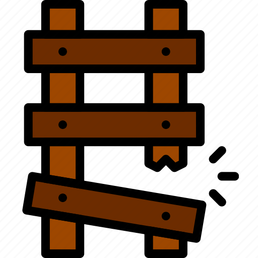 broken, building, construction, ladder, tool, work icon