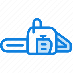 building, chainsaw, construction, tool, work icon