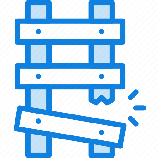 broken, building, construction, ladder, tool, work icon
