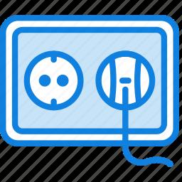 building, construction, eu, plug, socket, tool, work icon