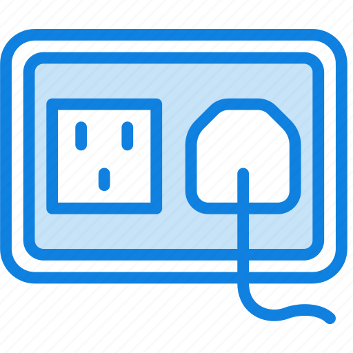 building, construction, plug, socket, tool, us, work icon