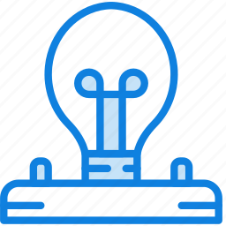 building, bulb, construction, electricity, tool, work icon