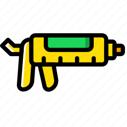 building, caulking, construction, gun, tool, work icon