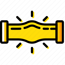 building, construction, jammed, pipe, tool, work icon