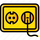 building, construction, eu, plug, socket, tool, work icon