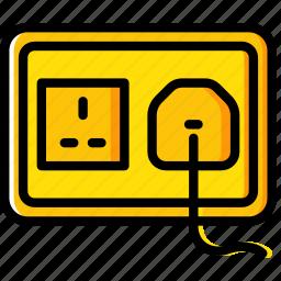building, construction, plug, socket, tool, uk, work icon