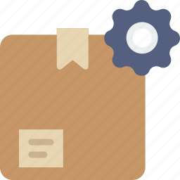box, delivery, give, settings, shipping, transport icon