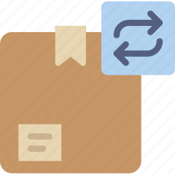 box, delivery, give, shipping, sync, transport icon