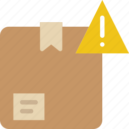 box, delivery, give, shipping, transport, warning icon