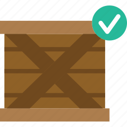 box, delivery, give, shipping, success, transport icon