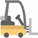 forklift, give, shipping, transport icon