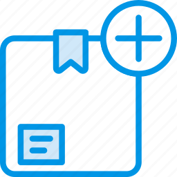 add, box, delivery, give, shipping, transport icon