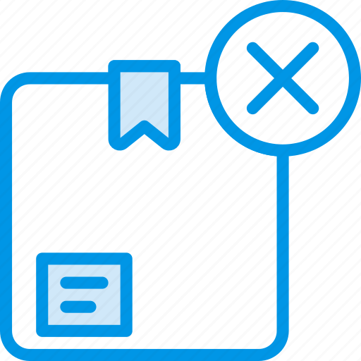 box, delete, delivery, give, shipping, transport icon