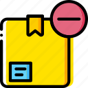 box, delivery, give, shipping, substract, transport icon