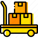 box, forklift, give, shipping, transport icon