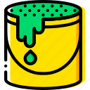 bucket, color, design, paint, yellow icon