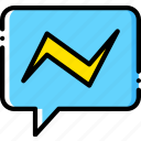 dialogue, facebook, messenger, social, yellow icon
