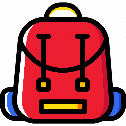 backpack, education, knowledge, learning, study icon