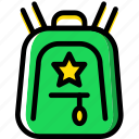 backpack, child, education, knowledge, learning, study icon