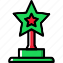 education, knowledge, learning, study, trophy icon