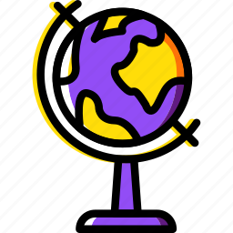 education, globe, knowledge, learning, study icon