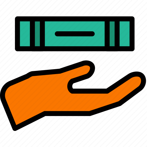 book, education, give, knowledge, learning, study icon