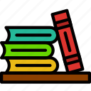 books, education, knowledge, learning, study icon