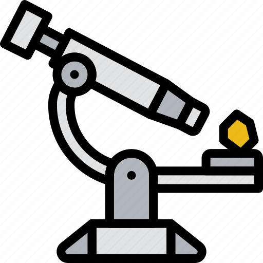 education, electronic, knowledge, learning, microscope, study icon