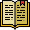 book, education, knowledge, learning, open, study icon