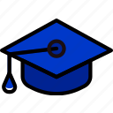 cap, education, graduation, knowledge, learning, study icon