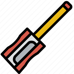 education, knowledge, learning, pencil, sharpener, study icon