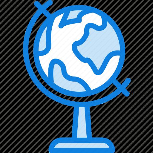 education, globe, knowledge, learning, study icon