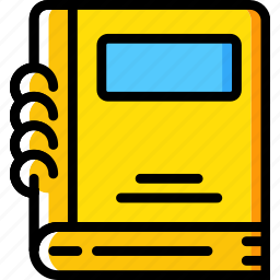 education, knowledge, learning, notebook, study icon