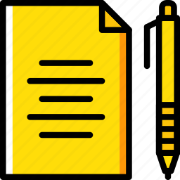 education, essay, knowledge, learning, study icon