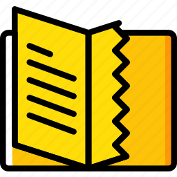 book, education, knowledge, learning, study, torn icon